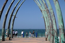 Whale-bone Pier Located At Umhlanga Rock, Near Durban, Along The North Coast Of South Africa
