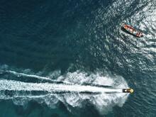 Caribbean Jet Ski Aerial Drone Sea