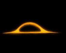 A Yellow Black Hole That Glows On Black. Creative Illustration For Design Elements. A Gold Color That Shines In Dark.