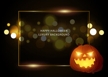 Abstract Vector Background Of Bokeh Lights For Halloween Theme