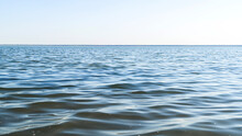 Flat Surface Of Salt Lake Water