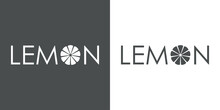 Banner Con Texto Lemon Con Letra O Como Mitad De Limón En Fondo Gris Y Fondo Blanco