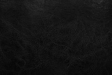 Dark Black Leather Texture Background. Abstract Background Concept