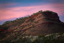 Beautiful Sunset Is Lightening Up The Mountain Of Lake Argyle, Kimberley, Western Australia