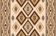 Abstract Brown Horizontal Geometric Textile Oriental With Floral Pattern  Traditional Design For Seamless The Background