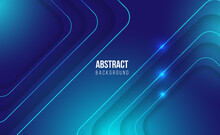 Modern Blue Abstract Background Banner