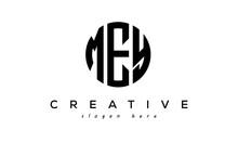 Letter MEY Creative Circle Logo Design Vector