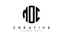 Letter MOC Creative Circle Logo Design Vector