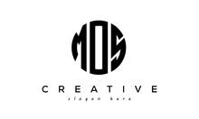 Letter MOS Creative Circle Logo Design Vector