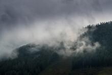 Epic Mountain Clouds Mist In Austria At Sunset Sunrise