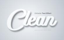 3d Clean White Text Effect