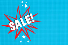 Sale Collage. The Word Sale Is In The Star. Wow Effect Of Favorable Prices. A Call To Make Purchases. Marketing, Promotion, Stimulating Demand. Profitable Purchases. A Collage With A Place For Text.