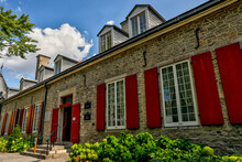 Exteriors Of The Chateau And Gardens Of Chateau Ramezay In Old Montreal