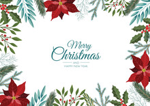 Christmas Card. Great For New Year Cards, Banners, Headers, Party Posters.