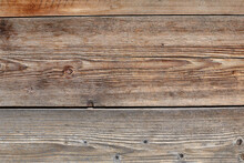 Brown Wood Plank Wall Texture Background. Front View With Copy Space.