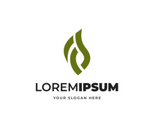 Letter FS Leaf Vector Logo Design, Creative Abstract Logo Symbol Design