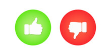 Thumb Up And Down Sign Icon Illustration