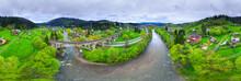 Vorokhta Bridge 360 panorama