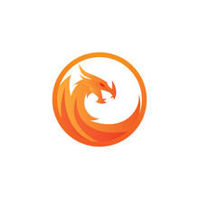 Dragon Vector Graphic Illustration With Color Gradient Is Good For Logo...