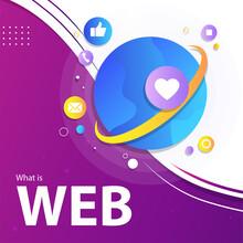 Template Web Banner Modern Design Gradient Stylish Social Media World