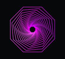 Pink Octagonal Spiral Background