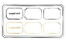 和風なイメージの線のシンプルなフレームセット