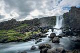 Fototapeta Kawa jest smaczna - Oxarafoss waterfall in Thingvellir National Park, Iceland
