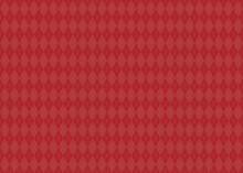 アーガイルチェックの背景素材 イラスト 秋冬 クリスマス(赤色、ワインレッド)