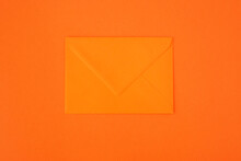 Envelope On Orange Background