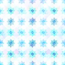 Abstract Snowflake Geometric Pattern.