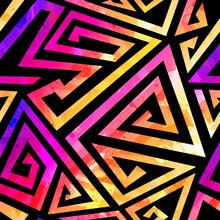 Bright Spiral Geometric Pattern.