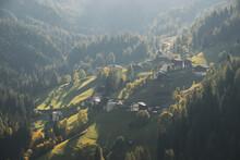 Colle Santa Lucia Is A Beautiful Mountain Village In The Veneto Region, In The Province Of Belluno, Cortina D'Ampezzo, Tofana Mountain Range