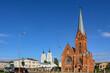 canvas print picture - Evangelisch-lutherische und römisch-katholische Kirche in Daugavpils in Lettland