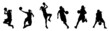 girl playing basketball silhouette collection