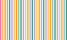Multi Color Vertical Long Stripes Abstract Vector Geometric Seamless Pattern Isolated On White Back. Design For Use Background, Wrapping Paper, Fabric, Woven Knit Fabric And Print For Interior Design.
