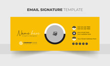 Email Signature Vector Templates, Trendy Email Signature, Modern Professional Awesome Unique Corporate Custom Beautiful Personal Office Email Signature Design Template Set With The Layout,
