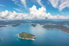 Beautiful Aerial View Of The Sea Near Sai Kung And Clearwater Bay, Hong Kong