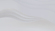 White 3D Ribbons Form A Light Abstract Wallpaper. 3D Render With Copy-space.