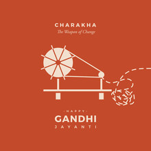 Charakha: A Revolutionary Weapon Used By Mahatma Gandhi In Swadeshi Movement. Basically Charkha Is A Handmade Device Which Is Used For Spinning Yarn. Happy Gandhi Jayanti.