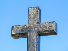 Stone Cross Of Blue Sky