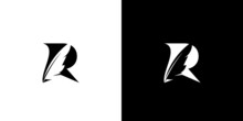 The Initial Logo Design Of The Letter R, A Combination Of A Goose Feather Pen, Is Unique And Attractive