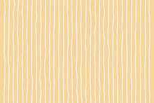 Hand Drawn Vertical Line Pattern Background On A Yellow Background With Pastel Colors. Vector Illustration