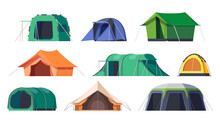 Camp Tents And Campsite Shelters, Camping Travel