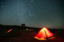 テント 星空 夜景 山