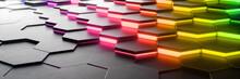 Leuchtende Bunte Abstrakte Hexagon Hintergrund Textur