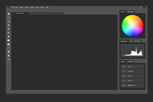 Photo Editing And Graphics Creation Software Mockup