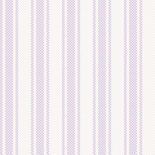Herringbone Textured Stripe Pattern In Lilac Purple And Off White. Seamless Vertical Soft Stripes For Dress, Shirt, Skirt, Other Modern Spring Summer Fashion Textile Design. Pixel Texture.
