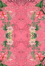 Flowers Romantic Pink Animal Print
