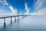 Fototapeta Kawa jest smaczna - Aerial View Of The Bridge Between Denmark And Sweden, Oresundsbron.