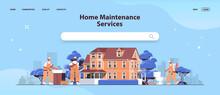 Mix Race Professional Repairmen In Uniform Making House Renovation Home Maintenance Repair Service Concept